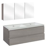 Thecollection The Collection Concept Badmeubelset met spiegelkast 120cm - Grijs/Wit