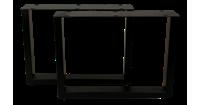 HSM Collection Salontafelpoten - U-model - powdercoated black - metaal - S/2