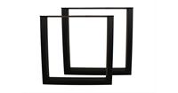 HSM Collection Tafelpoten - U-model - gepoedercoat zwart - metaal - S/2