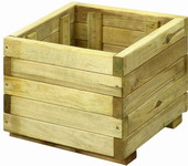 Bloembak plantenbak hout vierkant grenen 40cm