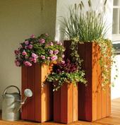 Bloembak plantenbak Bangkirai hardhout 50cm hoog