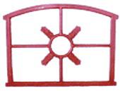 Stalraam spinnenkop 71x55cm, gietijzer
