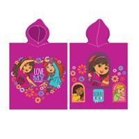 badponcho Dora roze 115 x 50 cm