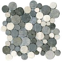 Max4home Mozaiek coinstone mixed grijs wit 29,4x29,4
