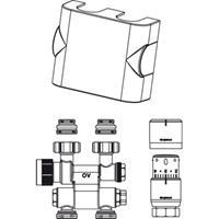 "Oventrop Multiblock aansluitingset TF/UNI-SH 1/2"" draaibaar Kvs = 0,75 m3/h wit"