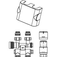 """Oventrop Multiblock aansluitingset TF/UNI-SH 1/2"""" draaibaar Kvs = 0,75 m3/h chroom"""