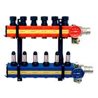 Komfort SBK 4100 verdeler vloerverwarming verwarmen/koelen zij-aansluiting met debietmeter 2 -groeps