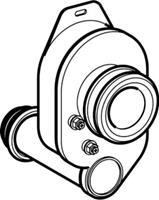 Geberit urinoirsifon wit uitlooprichting horizontaal uitwendige buisdiameter afvoer 40mm