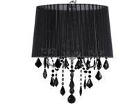 Beliani EVANS Hanglamp Zwart Polykatoen