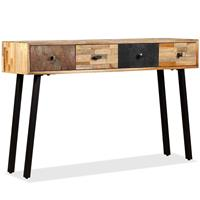Wandtafel 120x30x76 cm massief gerecycled teakhout