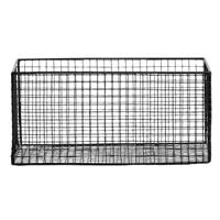 Leen Bakker Mand Brisbane - zwart - 34,5x23x16 cm