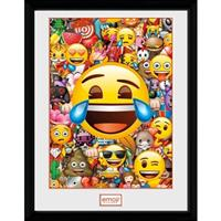 GB Eye poster in lijst Emoji Collage 30 x 40 cm