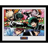 GB Eye poster in lijst My Hero Academia Powers 30 x 40 cm