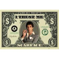 Poster Scarface dollar 61 x 91,5 cm