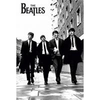 Poster The Beatles zwart/wit 61 x 91,5 cm