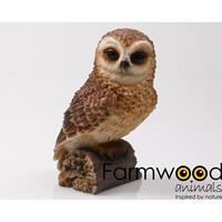 Eigen merk Farmwood Animals Uil 13 cm