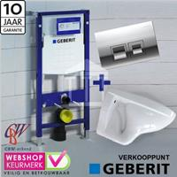 Geberit Complete Toiletset met  UP 100 wit luxe Delta 50 chroom...