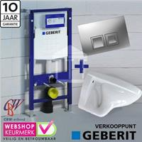 Geberit Complete Toiletset met  UP 100 wit luxe Delta 50 mat-chroom...