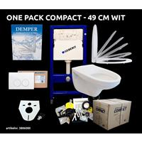 Best Design Geberit One Pack Compact 49 cm wit