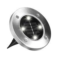Bellhowell Bell Howell Disk Lights M16943 Solar inbouwlamp Set van 4 Neutraal wit RVS