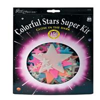 Selecta Glow in the Dark sterren: Colorful Stars Super Kit