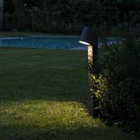 qazqa Moderne buitenlamp donkergrijs 62cm incl. LED - Uma