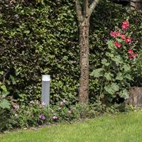 qazqa Moderne staande buitenlamp 50 cm grijs IP44 - Denmark