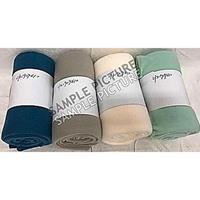 Creme witte fleece deken/kleed 130 x 160 cm Wit