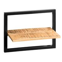 Leen Bakker Wandplank Bart - zwart/naturel - 35x45x25 cm