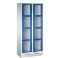CLASSIC Locker met doorzichtige deuren (8 brede vakken)