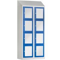 BASIC Locker met 8 doorzichtige deuren