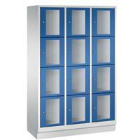 CLASSIC Locker met doorzichtige deuren (12 brede vakken)
