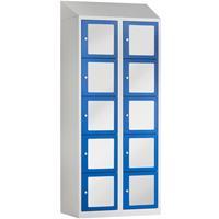 BASIC Locker met 10 doorzichtige deuren