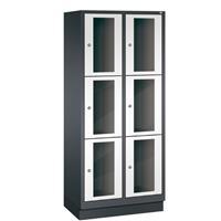 CLASSIC Locker met doorzichtige deuren (6 brede vakken)