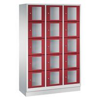 CLASSIC Locker met doorzichtige deuren (15 brede vakken)