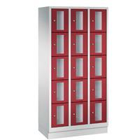 CLASSIC Locker met doorzichtige deuren (15 smalle vakken)