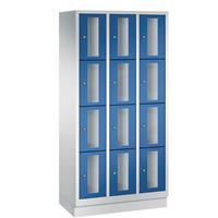 CLASSIC Locker met doorzichtige deuren (12 smalle vakken)