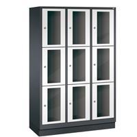 CLASSIC Locker met doorzichtige deuren (9 brede vakken)