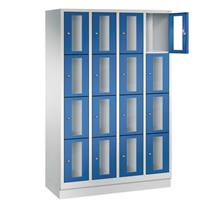 CLASSIC Locker met doorzichtige deuren (16 smalle vakken)