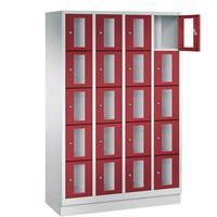 CLASSIC Locker met doorzichtige deuren (20 smalle vakken)