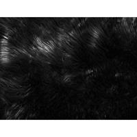 MUNGO Schapenvel Zwart Polyester 88x53x3