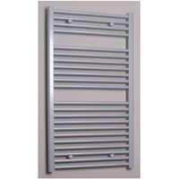 sanicare design radiator recht 111,8 x 60 cm. zilver grijs