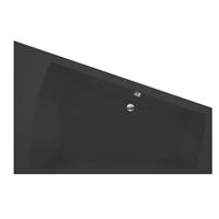 Xenz Palau hoekbad rechts 180x130x46cm ebony mat zwart