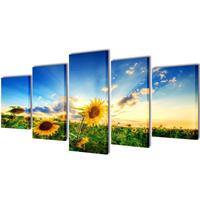 VidaXL Canvasdoeken zonnebloem 200 x 100 cm