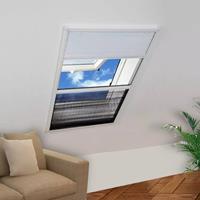 VidaXL Raamhor voor dakramen met zonnescherm pliss 160x80 cm