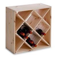 Zeller Vierkant Wijnrek 20 Flessen