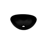 Plieger Scale keramische opbouw waskom ovaal 39x32x17.5cm zwart 0276179