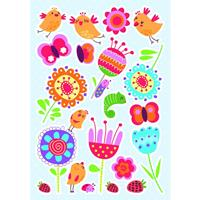 muurstickers Birds & Flowers 47 x 70 cm