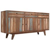 Dressoir vintage stijl 145x40x75 cm massief hout
