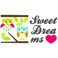 Kids Decor muurstickers sweet dreams glow in the dark